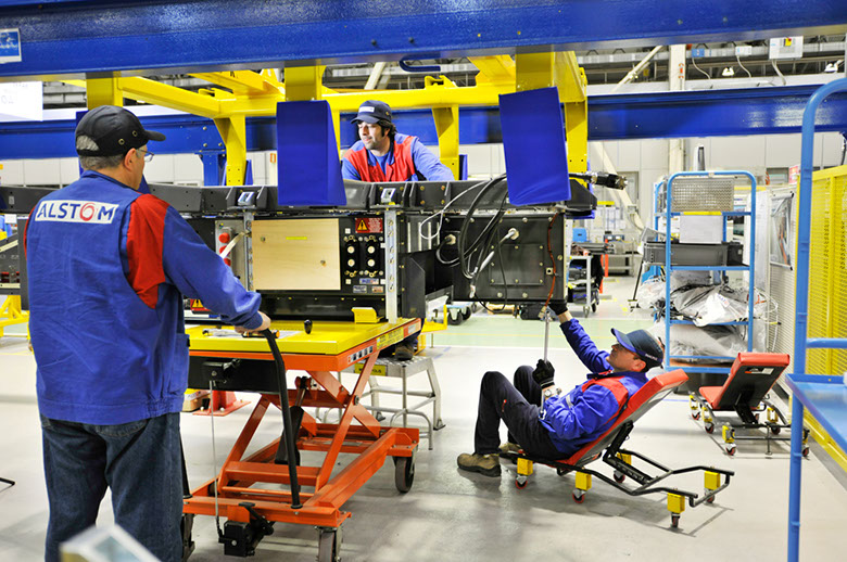 Asset tracking story at Alstom's factory